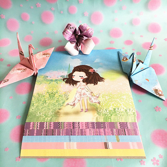 14 Cm Beautiful Girl Color Origami Cranes Paper Lucky Star Origami