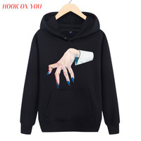 2017 New Fashion Men Novelty Ghost Paw Hand Printing Pullover Hoodie Monster 3D Deign Sweatshirt Hipster Trend Fleece Funny Tops