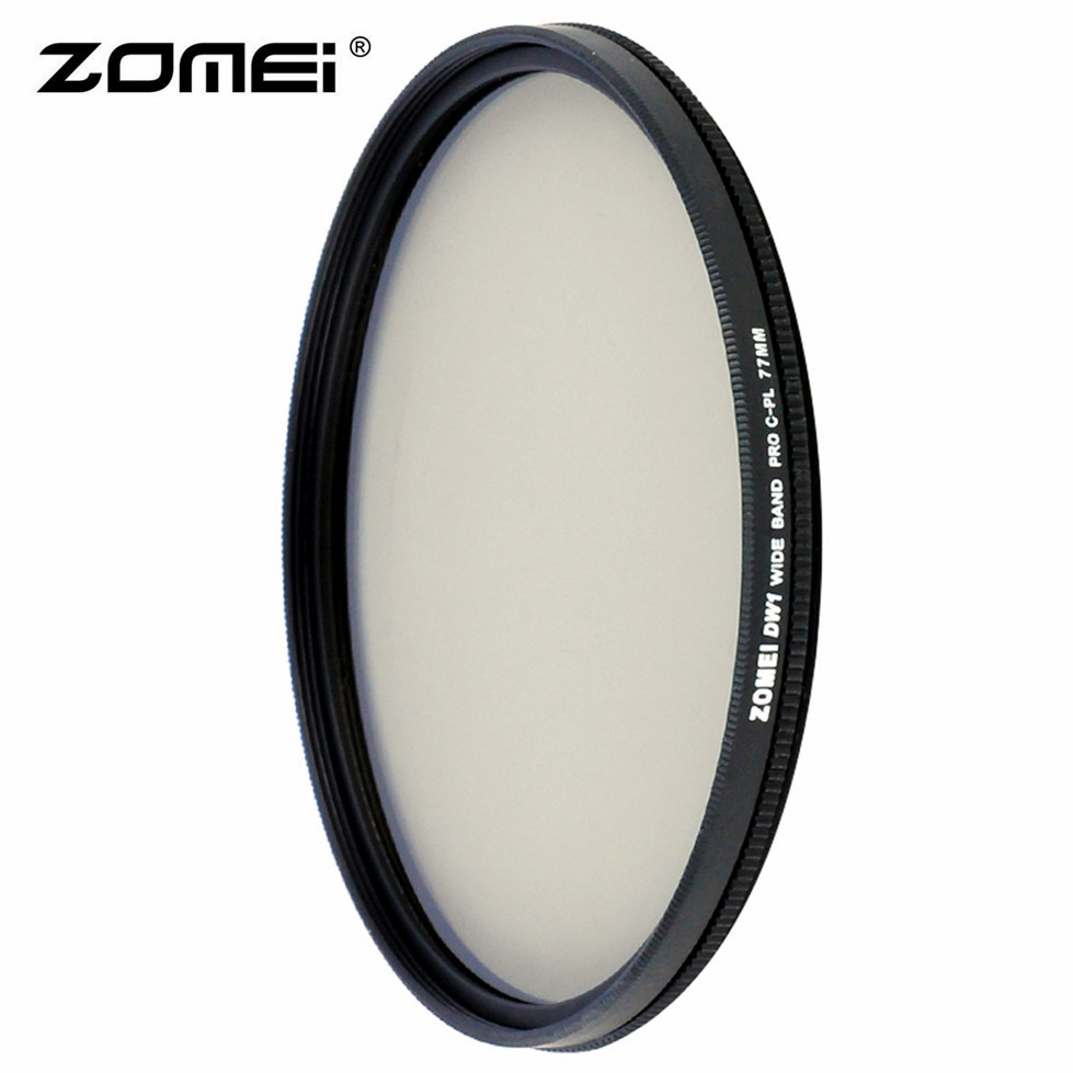 Zomei HD alta definición CPL filtro Polarizador Circular para lente de cámara DSLR 49mm 52mm 58mm 62 MM 67mm 77mm 82mm