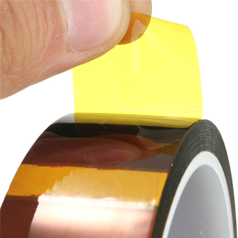 1pcs 25mmx33M Adhesive Tape High Temperature Heat Resistant Polyimide Tape 260-300 Degree For Electronic Industry