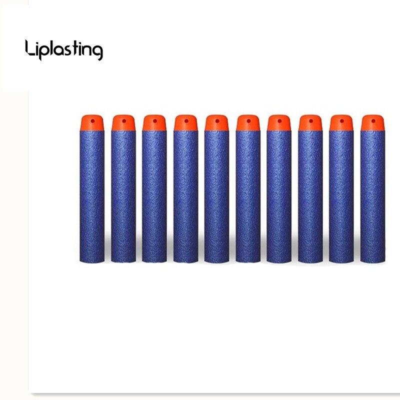 100 шт./упак. синий мягкая голова 7.2 см вместимость Дартс для Нерфа n-удар Элитной серии Бластеров малышу игрушечный пистолет