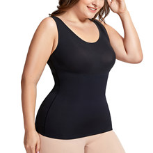 6f3d578a0ad65 Women s Tummy Control Shapewear Smooth Body Shaping Camisole Basic Tank Tops  Plus Size(China)