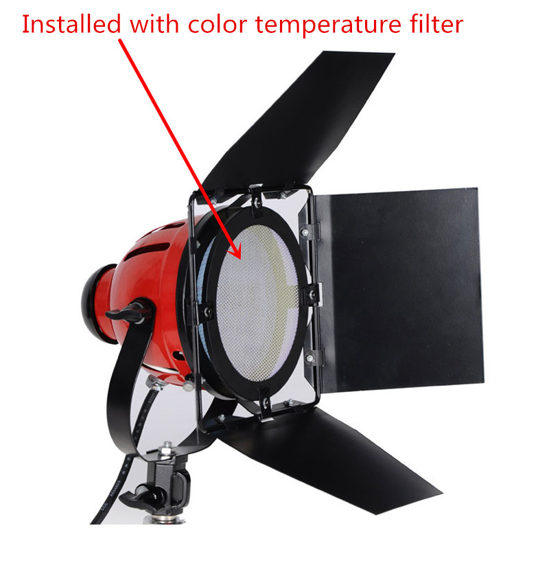 Nicefoto CL-02 Spotlight Color Temperature Filter Redhead Red Head Light Color Filter 3200K-5200K For Continuous Light