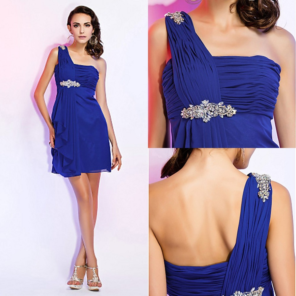 Blue holiday cocktail dress
