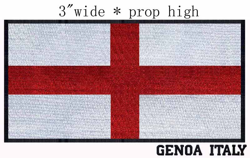 Genoa Italy Flag Flag Embroidery Patch 3 Wide Shipping The Red Cross Italian Square Shapes Embroidery Patch The Patchit Patch Aliexpress