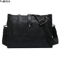 Genuine Leather Men Messenger Bags Vintage Men Shoulder Bag England Style Men Travel Bag Brand Briefcase