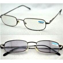 Retro Women Men Readers Metal Frame Photochromic Transition Lens Sun Reading Glasses Diopter gafas +1.0-4.0 Free Shipping