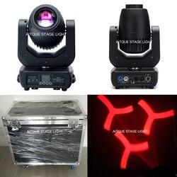(4 światła + Flycase) oświetlenie dj efekt lira led 150w spot led ruchome reflektory profesjonalna ruchoma głowica 150w led ruchoma głowica w Oświetlenie sceniczne od Lampy i oświetlenie na