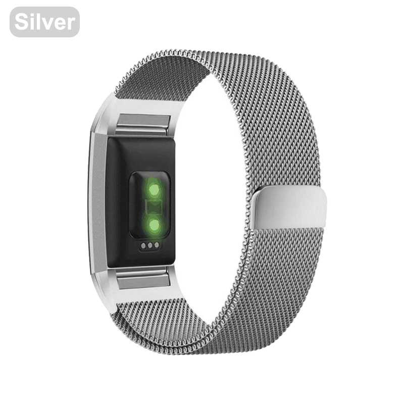 US $4 28 15% OFF|XShum Metal Stainless Strap For Fitbit Charge 2 Band  Milanese Loop Magnetic Fitbit charge 3 Strap Smart bracelet For Women  Men-in