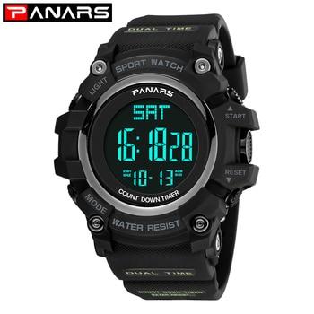 PANARS Sport Digital Watch Men Digital Military Silicone Army LED Display Waterproof Kids Watch Wristwatch Mens Digital Watches