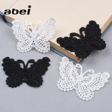 Butterfly Lace Skirts Clothing Decorative Appliques Wedding-Craft White Black DIY 10pcs