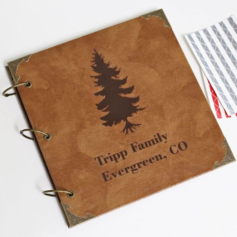 Invité mariage livre d'or arbre mariage livre d'or alternatif livre d'or mariage Album Photo Scrapbook-cuir design