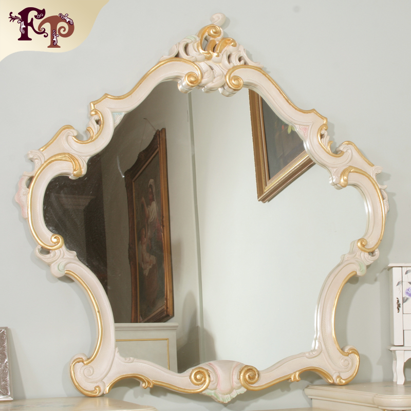 French style furniture-Europe furniture luxury gold color free standing mirror for bed room