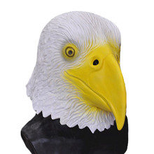 Realistic Party celebration Fancy Dress Overhead Animal Latex Bird Cosplay Up Eagle Mask