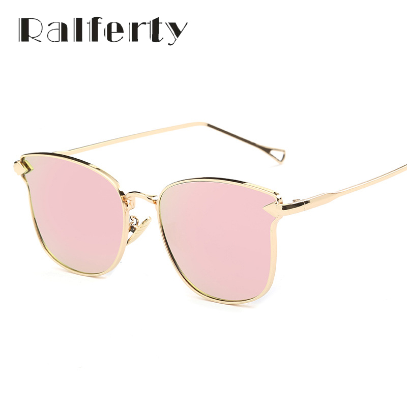 4a450b5f4e16 Ralferty Fashion Sunglasses Women White Black Cat Eye Sunglasses Luxury  Brand Designer Mirror Twin-Beams Sun Glasses Oculos 2243