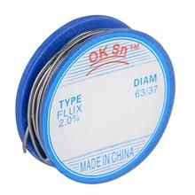 JCD 0,8 мм 63/37 свинцовый оловянный флюс 2,0 пайки провода расплава канифоль ядро припой рулон сварочная проволока пайка без свинца высокое качество