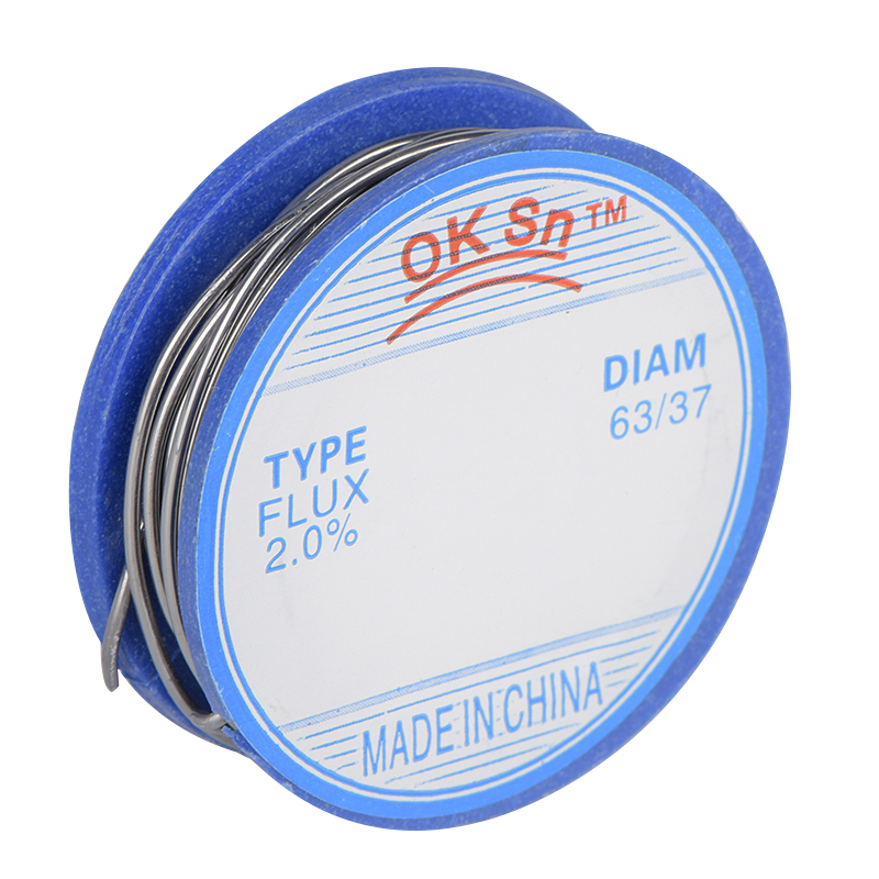 JCD 0.8MM 63/37 lead Tin flux 2.0 soldering wires Melt Rosin Core Solder Wire Roll welding wire soldering lead-free top quality(China)