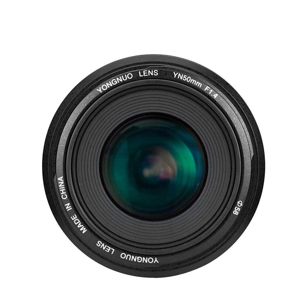 Objectif YONGNUO YN50mm YN50mm F1.4 objectif principal Standard objectif à grande ouverture à mise au point automatique pour Canon EOS 70D 5D2 5D3 600D appareil photo reflex numérique
