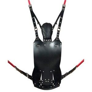 Image 4 - למעלה איכות סקס ריהוט אמיתי עור נדנדה למבוגרים SM משחק ערסל זוג סקס צעצועי מוצרים אספקת דוב 250 kg