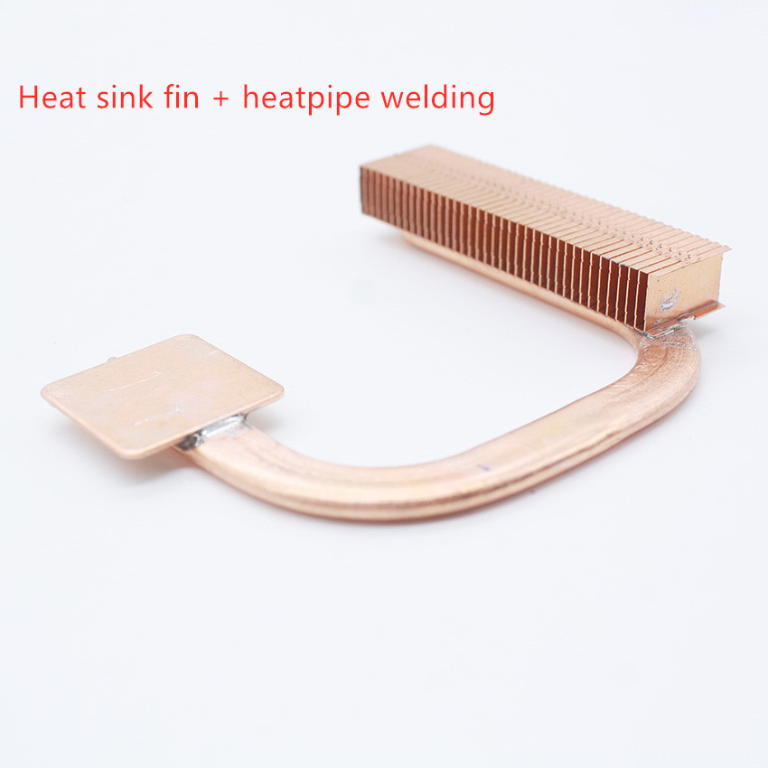Customized Heat Pipe Radiator Drawing Processing Copper Heat Pipe Copper Fin Heatsink Heating Pipe Welding Diy Heat Dissipation
