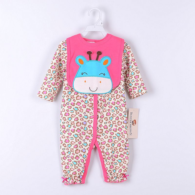 PaYiFang Baby Girls Suits Baby Gear 2pcs sets Childrens Trousers Bibs Sock Rompers HOT SALE