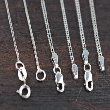 BALMORA 100% real 925 joyería de plata de ley cadenas largas collares para mujeres hombres tailandeses accesorios colgantes de plata regalos