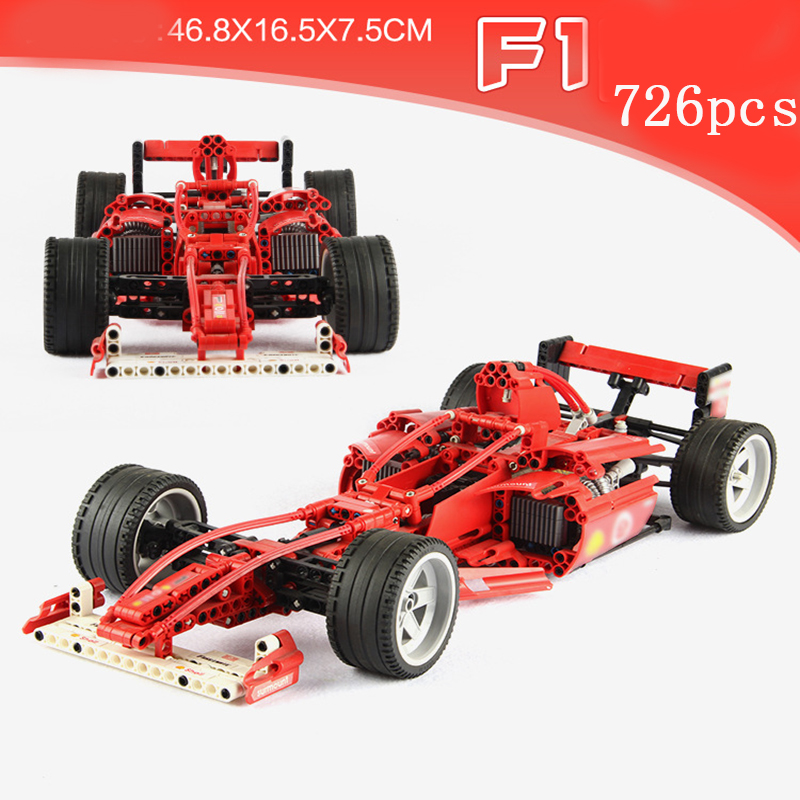 Legoed Technic Lepins voiture jouets F1 Racer 3334 blocs de construction briques super F1 course voiture modèle kits bricolage jouet pour enfants avec 8386