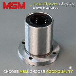 Image 2 - MSM 원형 플랜지 선형 베어링 4 개/몫 LMF6UU LMF8UU LMF10UU LMF12UU LMF16UU LMF20UU LMF25UU LMF30UU 샤프트 볼 부싱 (mm)