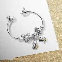 100 % 925 Sterling Silver Original Copy High Quality 1:1 Mickey Mouse Fox Pandora Bracelet With Logo