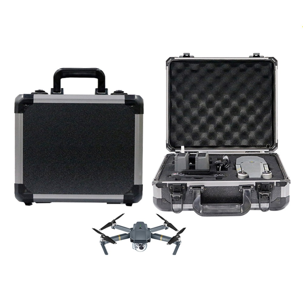 Waterproof Hardshell Suitcase Case Box for DJI Mavic Pro Drone Quadcopter  new black abs plastic gimbal hard case for mini drone dji osmo with custom foam waterproof box for headless drone