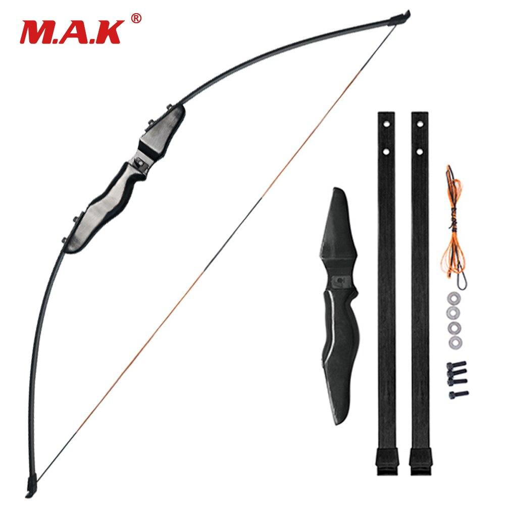51 pouces arc droit fendu 30 livres en fibre de verre membres entrée arc pour tir à l'arc chasse tir
