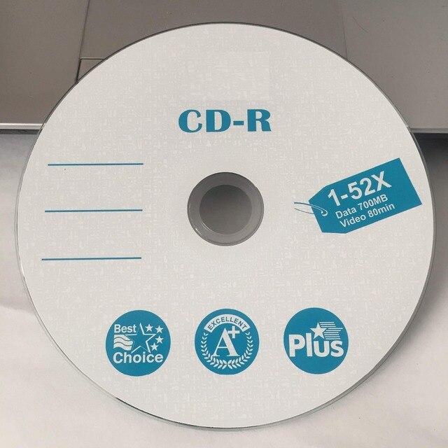 50 discs bán buôn Hạng A X52 700 MB Tốt Nhất Trống In CD-R Đĩa