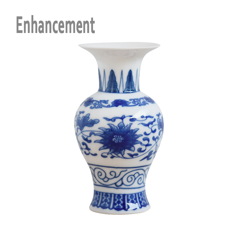 Handmade blue and white ceramic vase glittering porcelain for Decorating with blue and white pottery