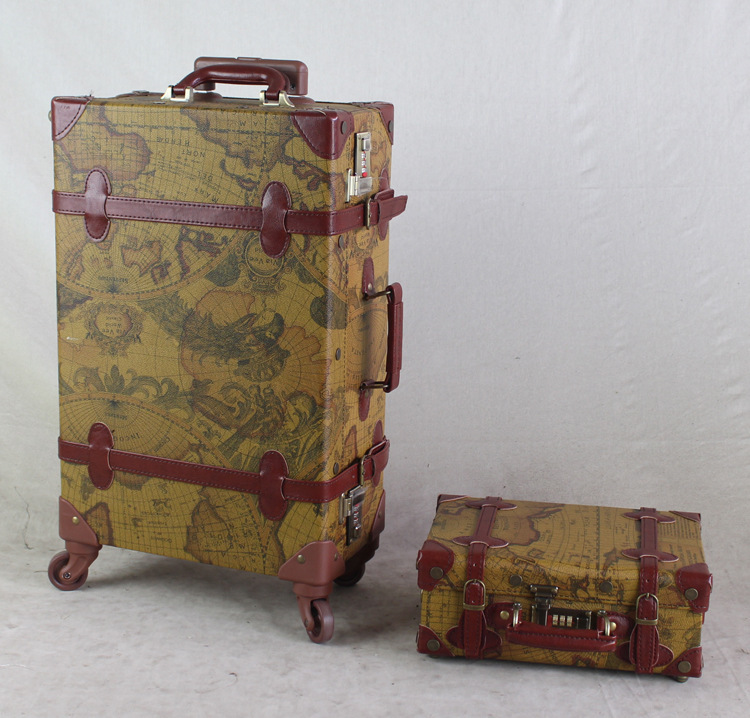 Vintage Trolley rolling Spinner Travel trolley luggage suitcase ...