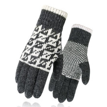 Бинг Хао Сюань Юань 10 цветов зимние перчатки женщины мужчины унисекс MittensWool плюс бархат утолщение пряжа перчатки