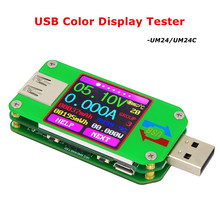 UM24 UM24C USB 2,0 Цвет ЖК дисплей тестер voltaje корриенте метр voltimetro amperimetro bateria medida resistencia дель кабель