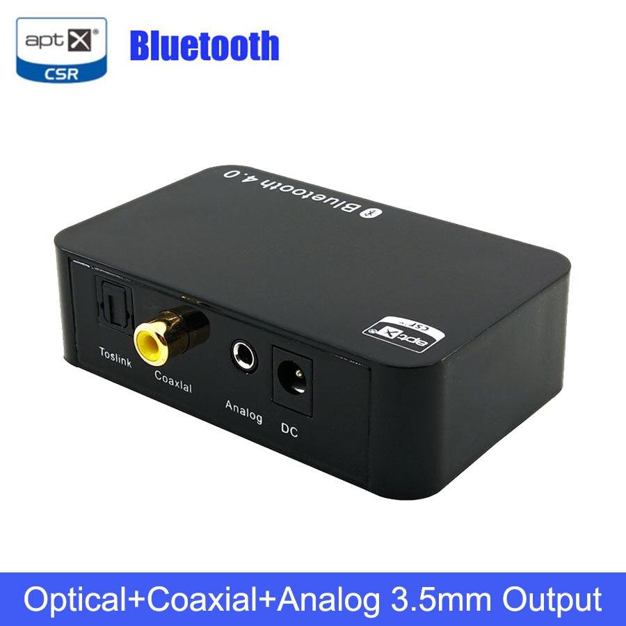 Unterhaltungselektronik Praktisch Bluetooth 4,0 Audio Empfänger Aptx Sbc Digital Optical Spdif Koaxial Analog 3,5mm Ausgang Unterstützung A2dp Iopt Wireless Music Adapter Elegant Im Stil Funkadapter