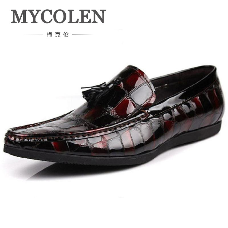 MYCOLEN New Pattern Leather Men Shoes Luxury Fashion Casual Men Loafers Wedding Party Mens Flats Herenschoenen LoafersMYCOLEN New Pattern Leather Men Shoes Luxury Fashion Casual Men Loafers Wedding Party Mens Flats Herenschoenen Loafers