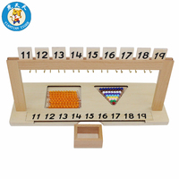 Kids Toys Montessori Material Math Learning Early Educational Wooden Toys Segen Matching Teen Bead Hanger From 11 19