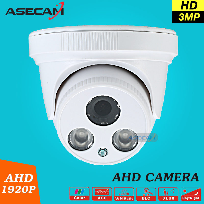 New Home Super 3MP HD AHD 1920P Camera Security CCTV White Dome 2pcs Array infrared Night Vision Surveillance Camera AHDH System new home 2mp hd ahd 1080p camera security cctv white dome 2pcs array infrared night vision surveillance camera ahd h system