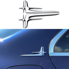 цена на 2PC Universal Lengthened Standard Car Styling Sticker For Mercedes Benz A B C E S CLA CLS Class Audi A6 BMW X5 Volkswagen Passat