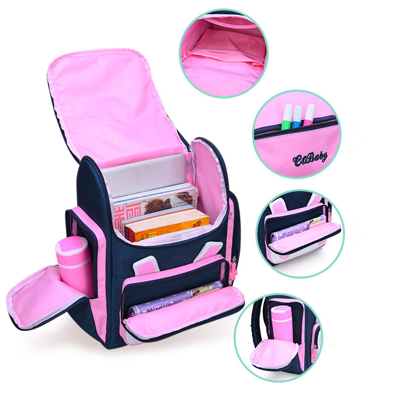 Cute Cartoon Rabbit Princess School Backpack For Girls 2 Sizes Primary School Bags Kids Travel Backpacks Mochila Escolar