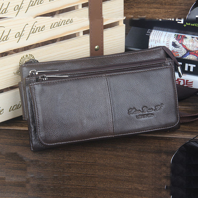 2015 hot sales genuine leather waist bag for men key holder travel bags man bag cowhide chest pack with high quality