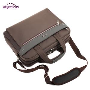 Image 4 - ダブルジッパー大容量の男のビジネスブリーフケースのラップトップバッグショルダー旅行バッグノートブックのため 15 16 17 インチ