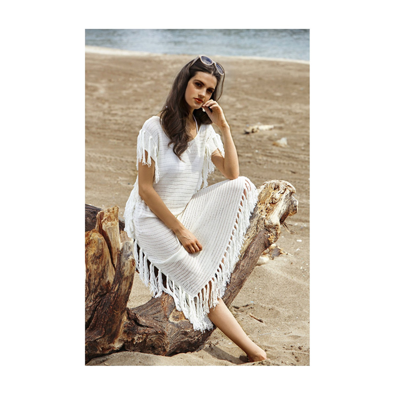 Pure Solid White Color Loose Short Sleeves Resort Dress Beach Maxi Dress For Mature Lady L51322 In Dresses From Womens Clothing On Aliexpress Com Alibaba