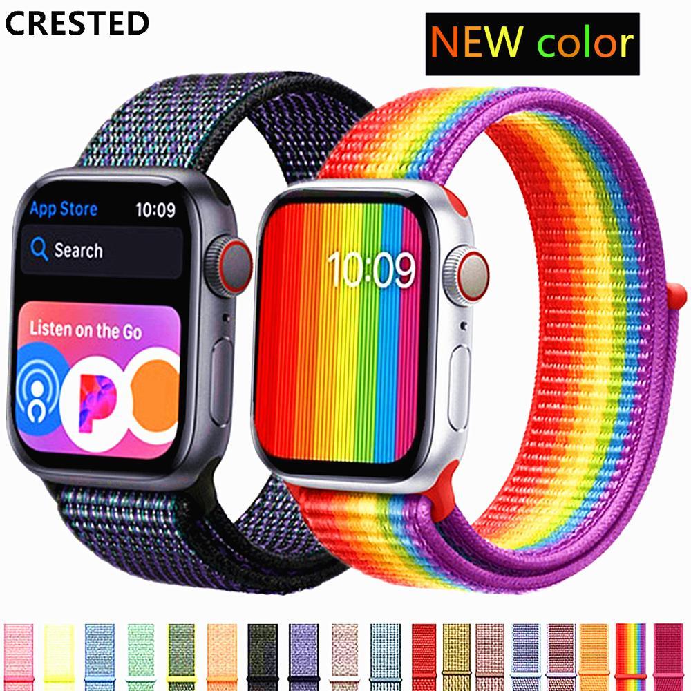 Nylon Woven Sport Bracelet Loop Watch Band Strap For Apple -7521