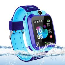 Smart Watch Phone Kids GPS Tracker Watch with SOS Anti-Lost Alarm Sim Card Slot Touch Screen Smartwatch for Children Kids smart watches anti lost tracking gps smart watch for kids on wrist children smartwatch for xiaomi huawei samsung phone