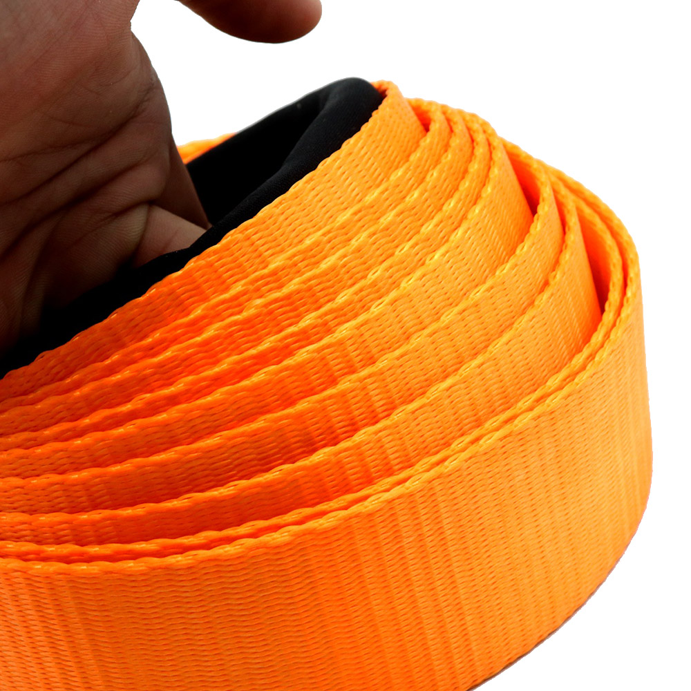 """New Tow Strap Tow Rope Heavy Duty Recovery 10,000 Lbs Capacity 2"""" x 16' with Jacket Storage Bag Tow Rope"""