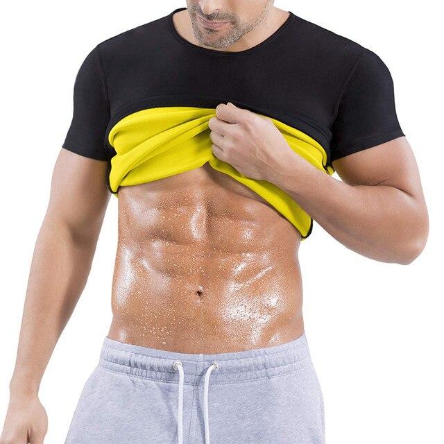 21aa52dbcc NINGMI Hot hombres faja chaleco neopreno sudor Sauna traje masculino  Fitness Compression Tank Top adelgazamiento cintura