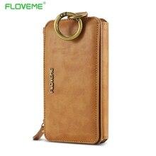 FLOVEME Ретро Кожа Телефон Случае Для Samsung Galaxy S7 Край/S8 S8 Плюс Huawei Mate 9 Mate9 Coque Карт Бумажника Защитный крышка